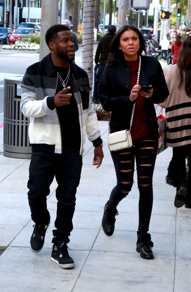 Eniko Parrish in Ripped Jeans at Christmas Shopping in Beverly Hills