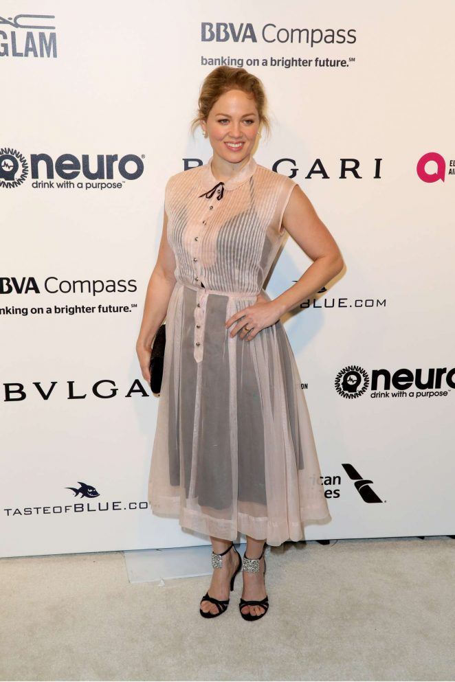 Erika Christensen: 2017 Elton John AIDS Foundations Oscar ...