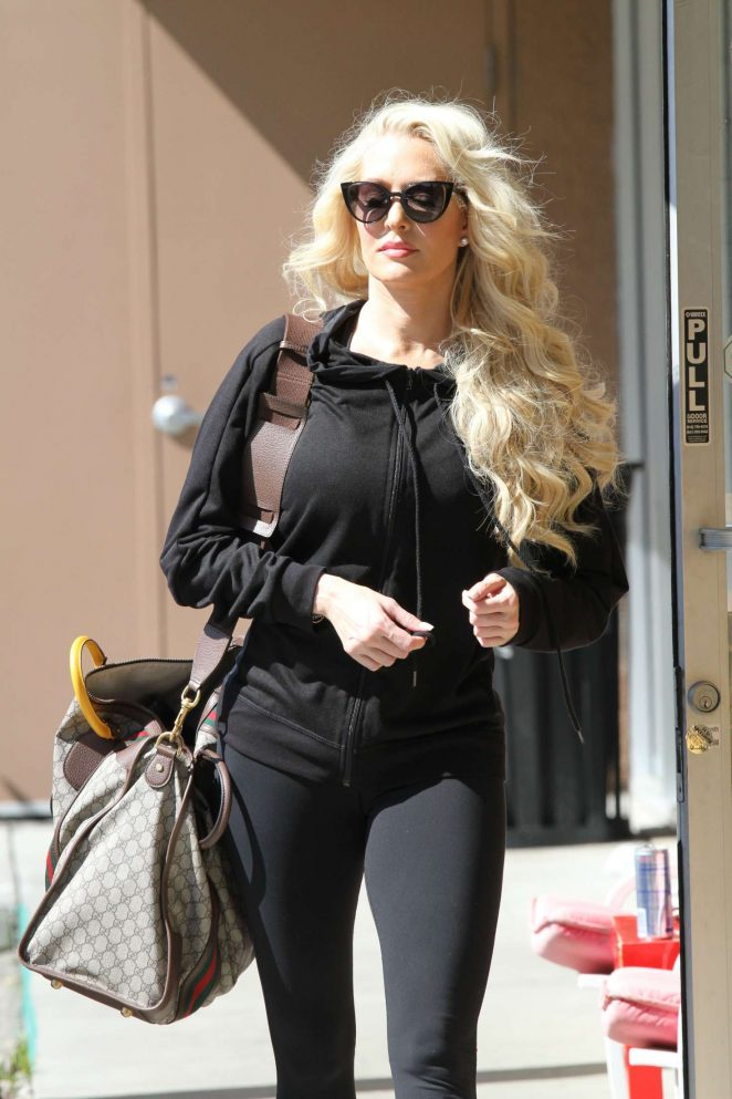 Erika Jayne at Dancing with the Stars rehearsal in LA
