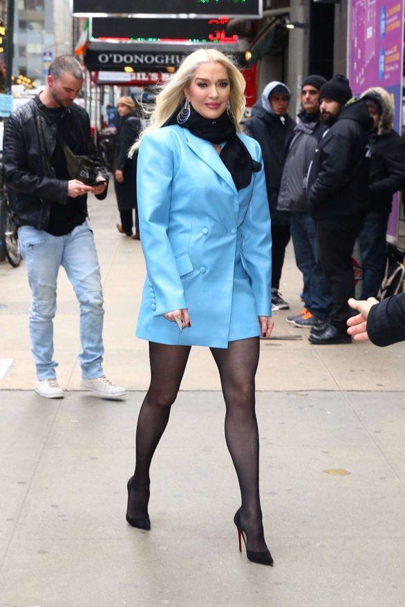 Erika Jayne - In a powder blue blazer at Good Morning America