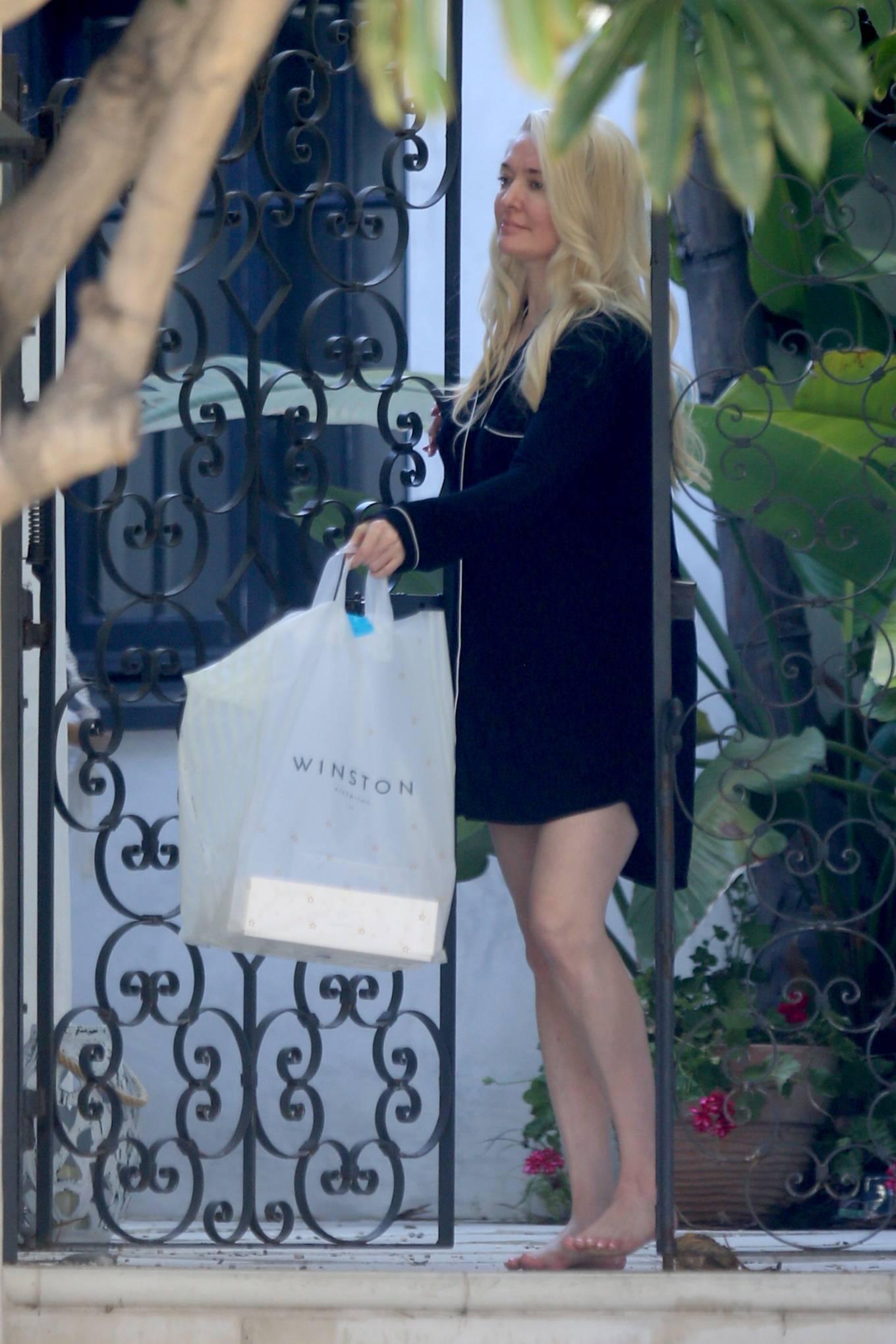 Erika Jayne 2021 : Erika Jayne – In a short nightshirt at her house in Los Angeles-01