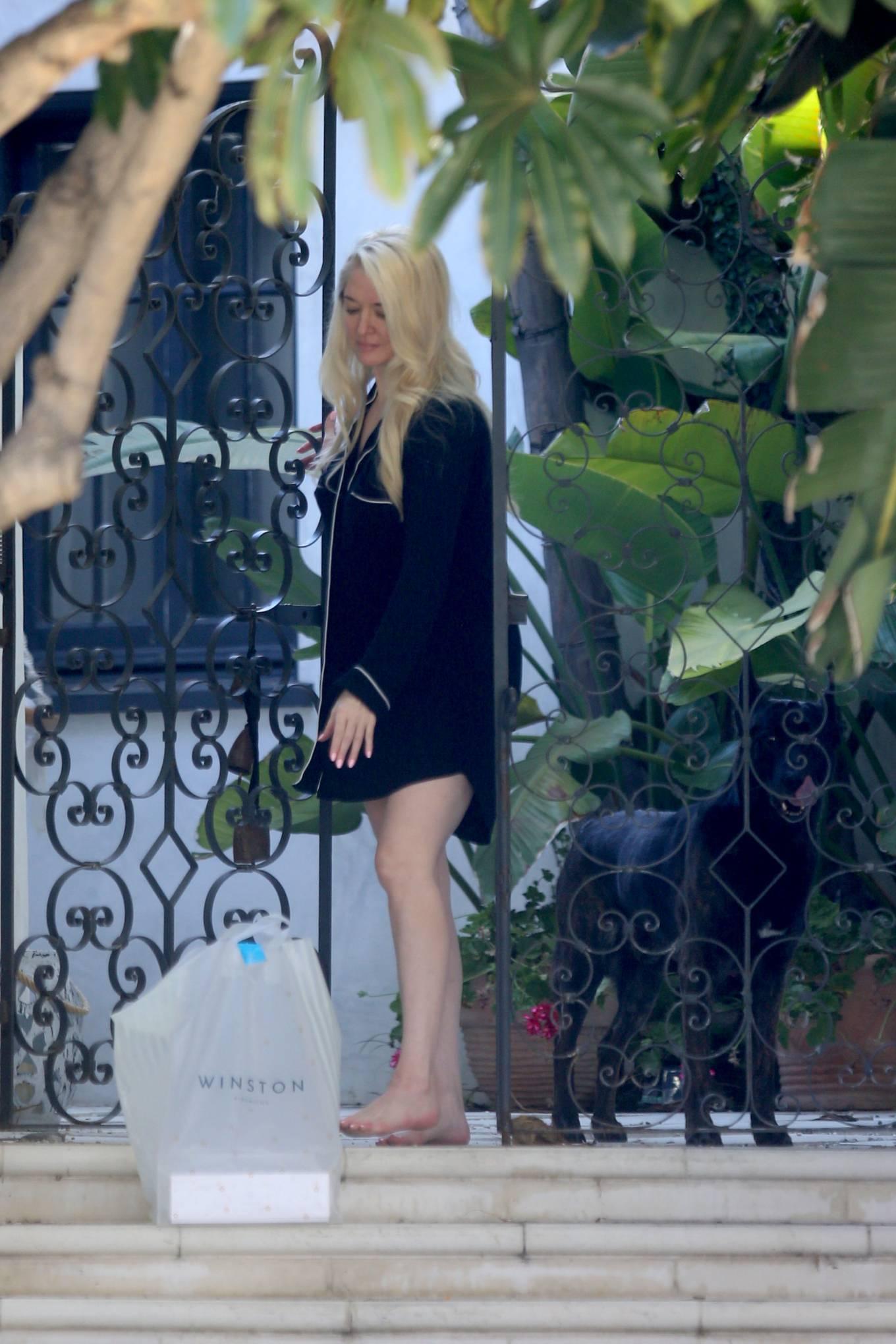 Erika Jayne 2021 : Erika Jayne – In a short nightshirt at her house in Los Angeles-03