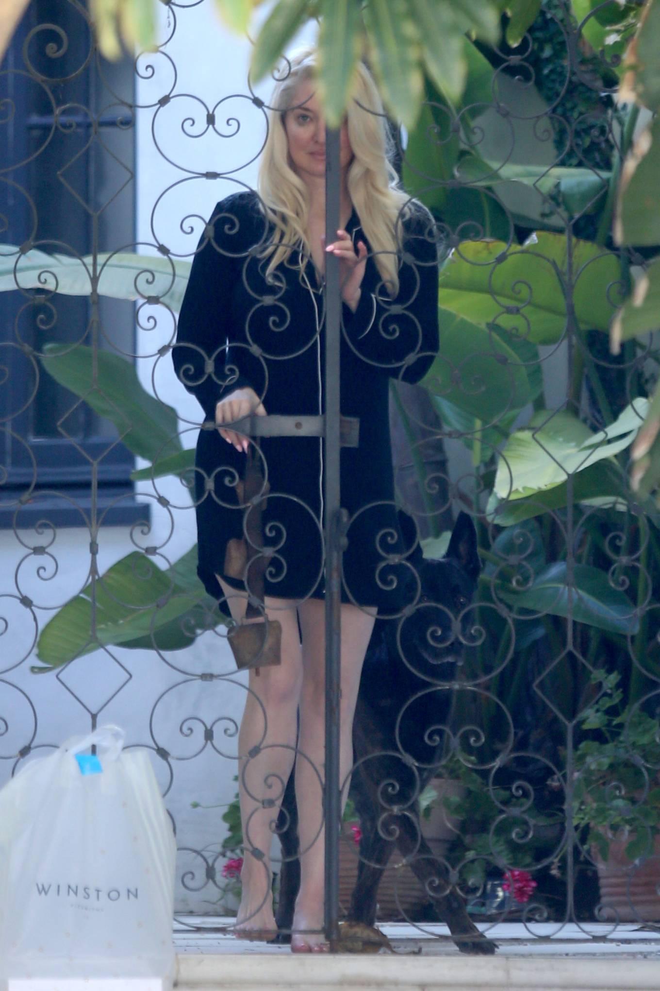 Erika Jayne 2021 : Erika Jayne – In a short nightshirt at her house in Los Angeles-27