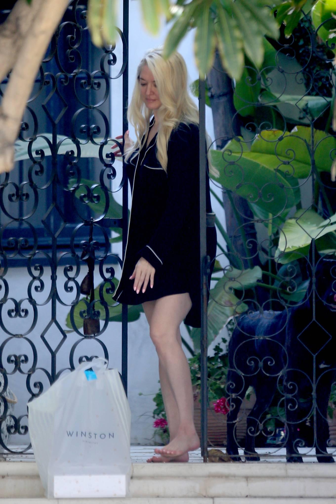 Erika Jayne 2021 : Erika Jayne – In a short nightshirt at her house in Los Angeles-31