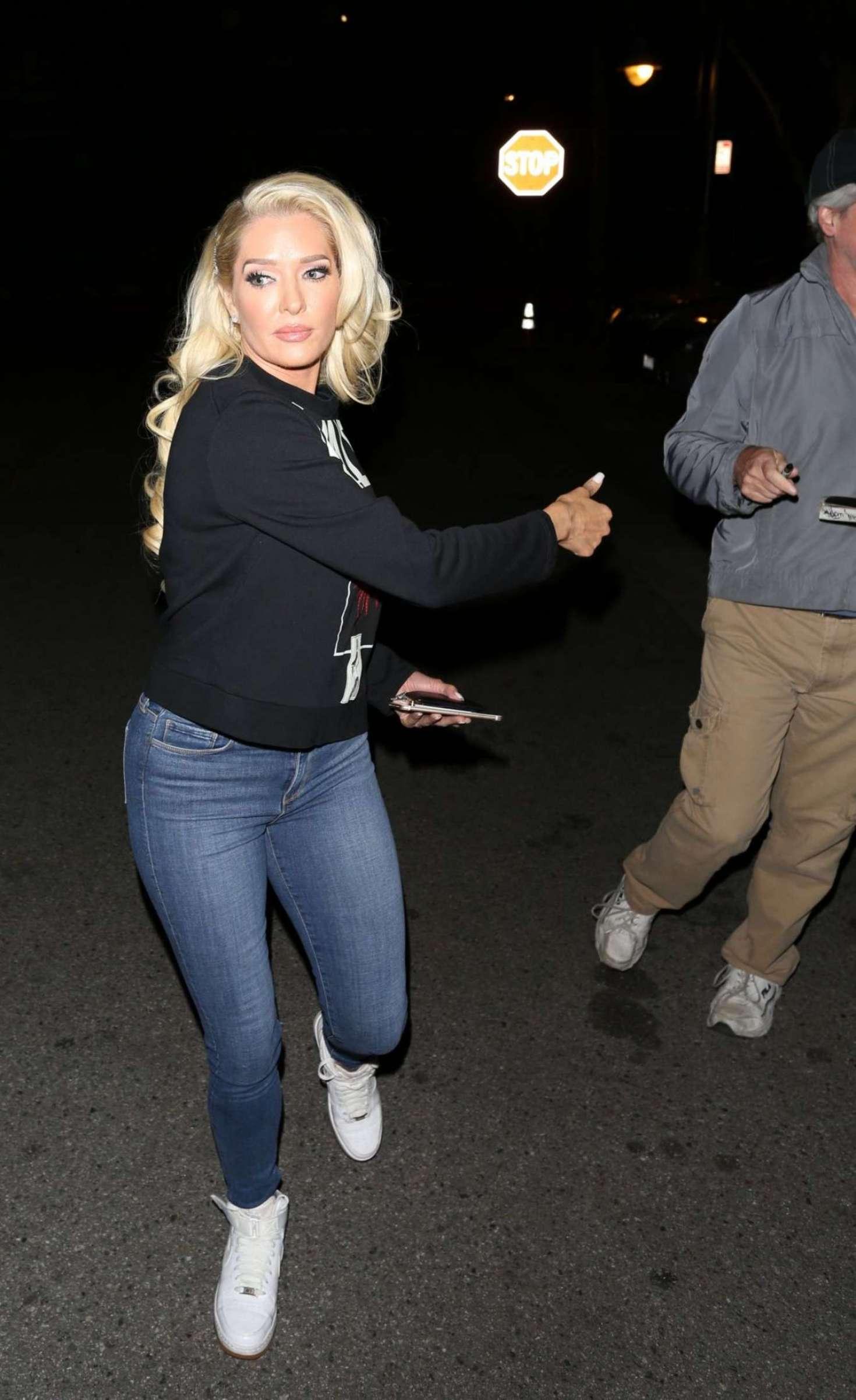 Erika Jayne in Jeans Leaves CBS Studios in Los Angeles