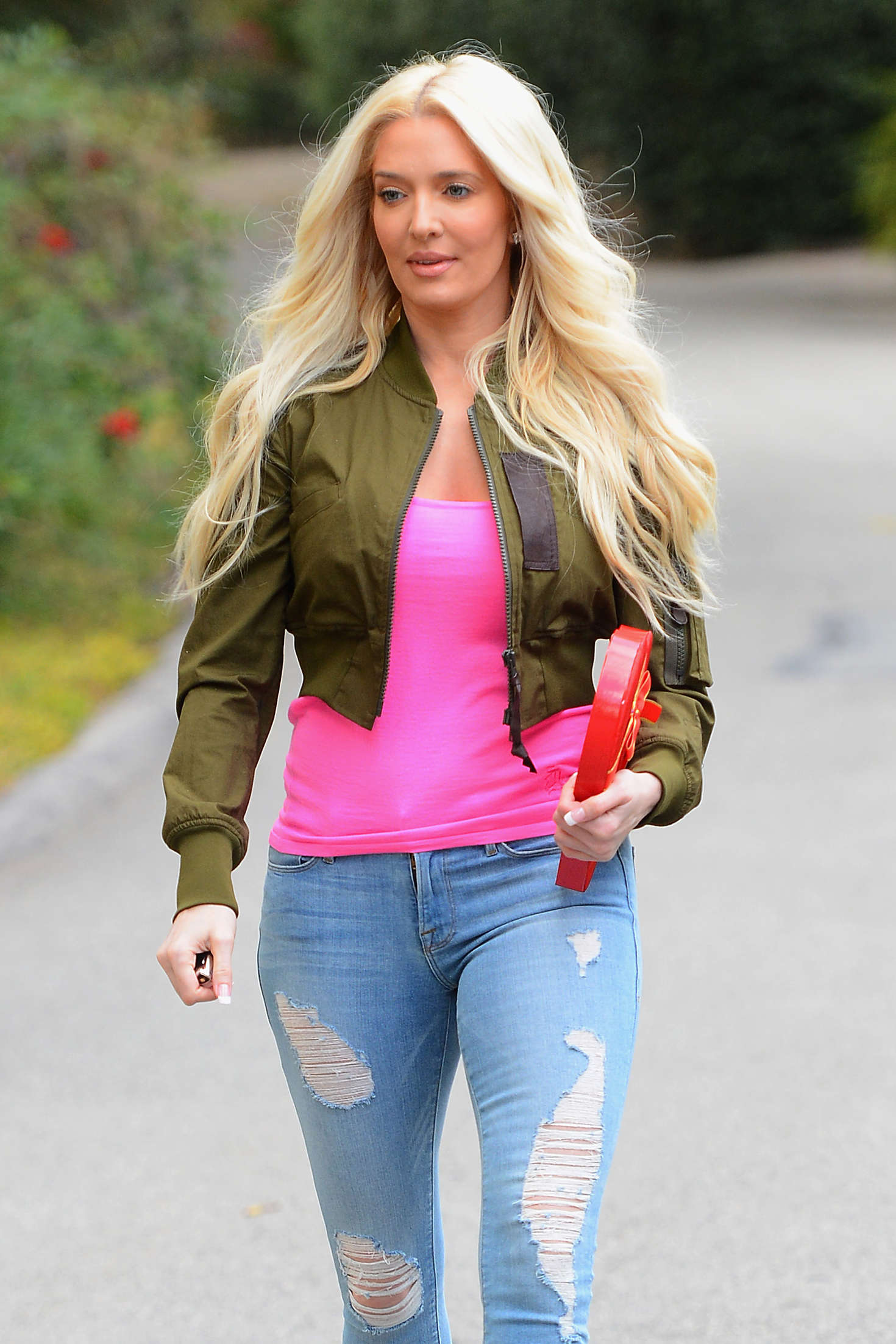 Erika Jayne in Jeans out in Los Angeles