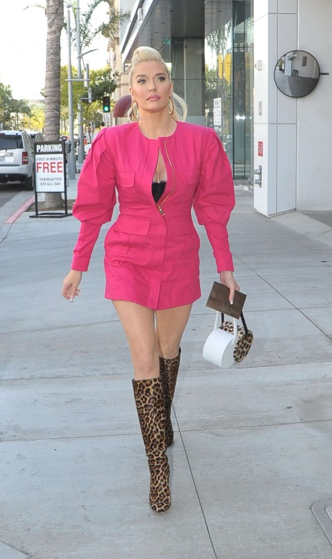 Erika Jayne - Leaving Andy Cohen's Baby Shower in Beverly Hills
