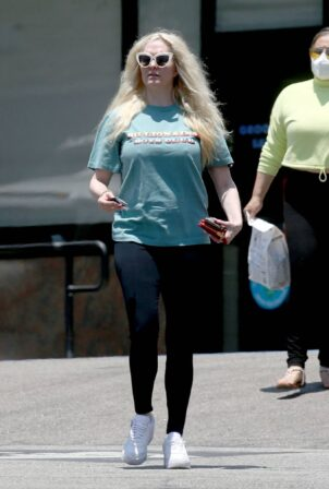 Erika Jayne - Seen wearing a 'Billionaire Boys Club' t-shirt while out in Los Angeles