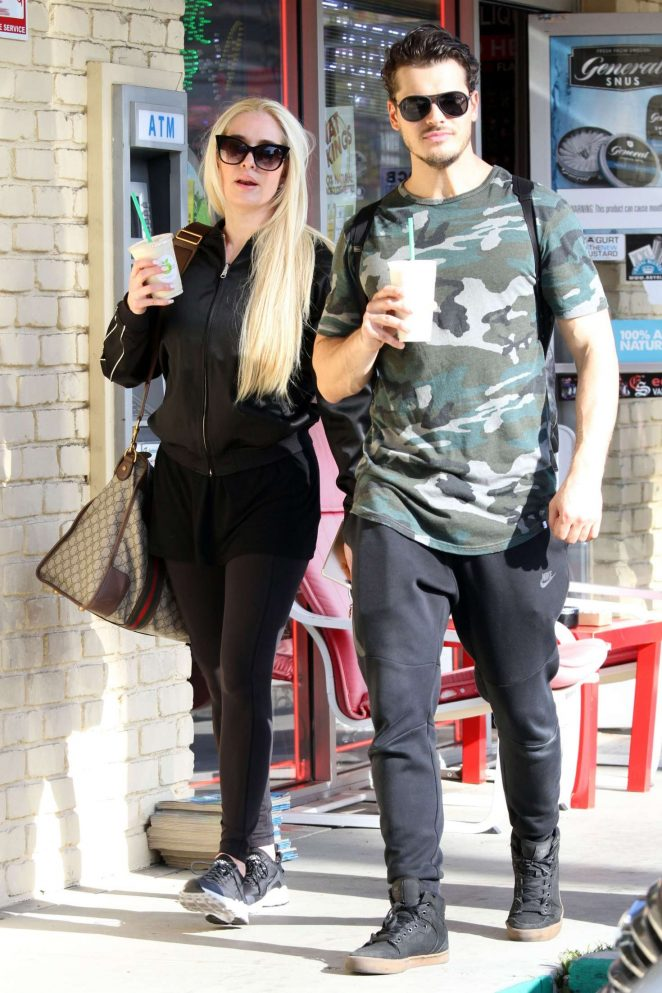 Erika Jayne with Gleb Savchenko out in LA