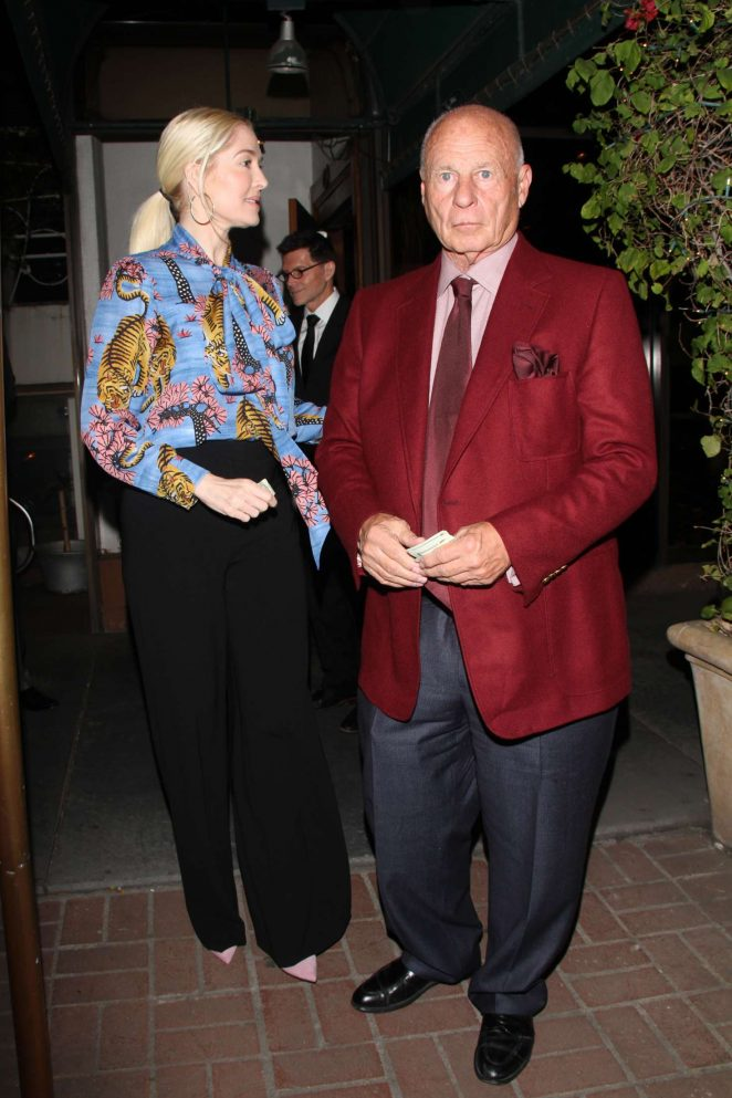 Erika Jayne with her husband at Madeo in West Hollywood