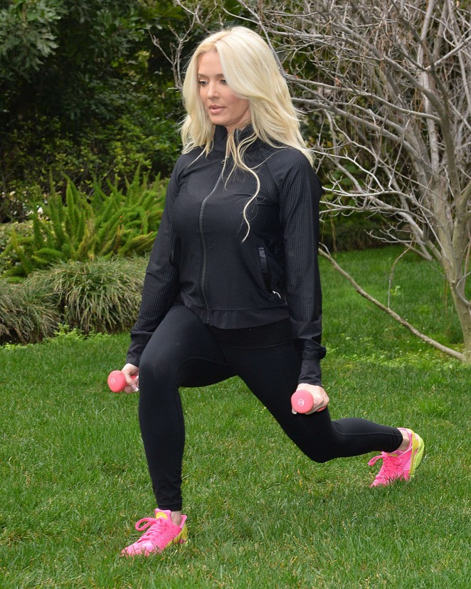 Erika Jayne - Works Out at at Park in Beverly Hills