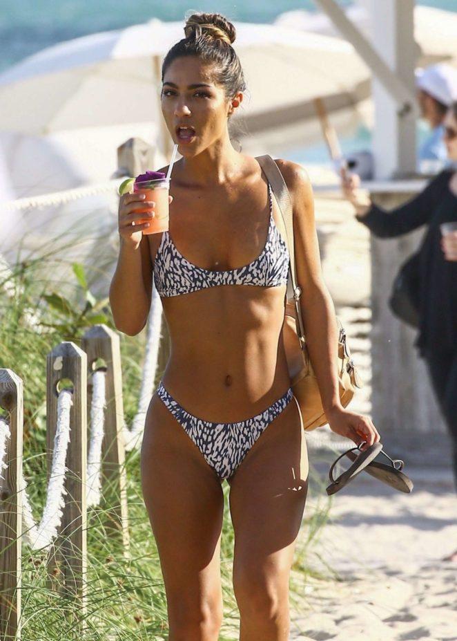 Erika Wheaton in Bikini on the beach in Miami