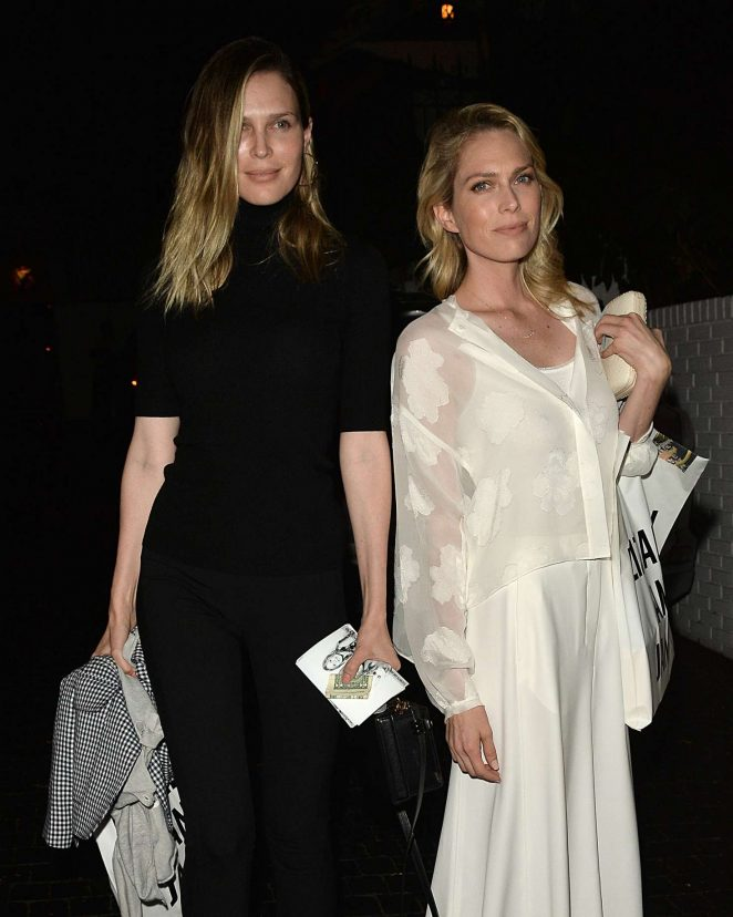 Erin and Sara Foster - Leaves a Party for Elizabeth and James Store in Los Angeles