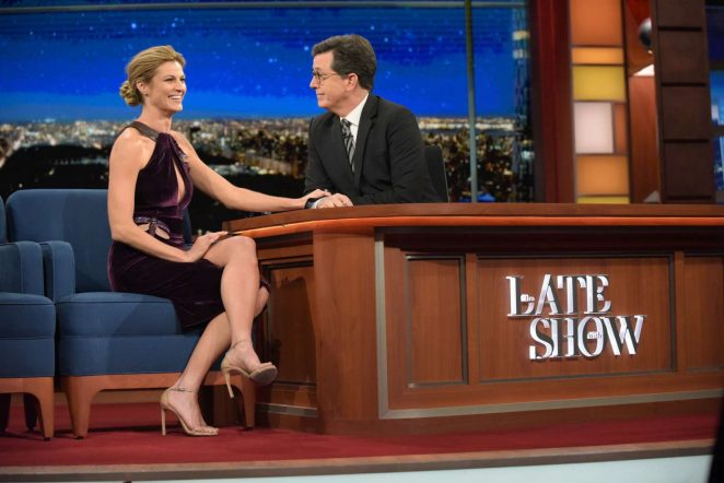 Erin Andrews at 'The Late Show With Stephen Colbert' in New York