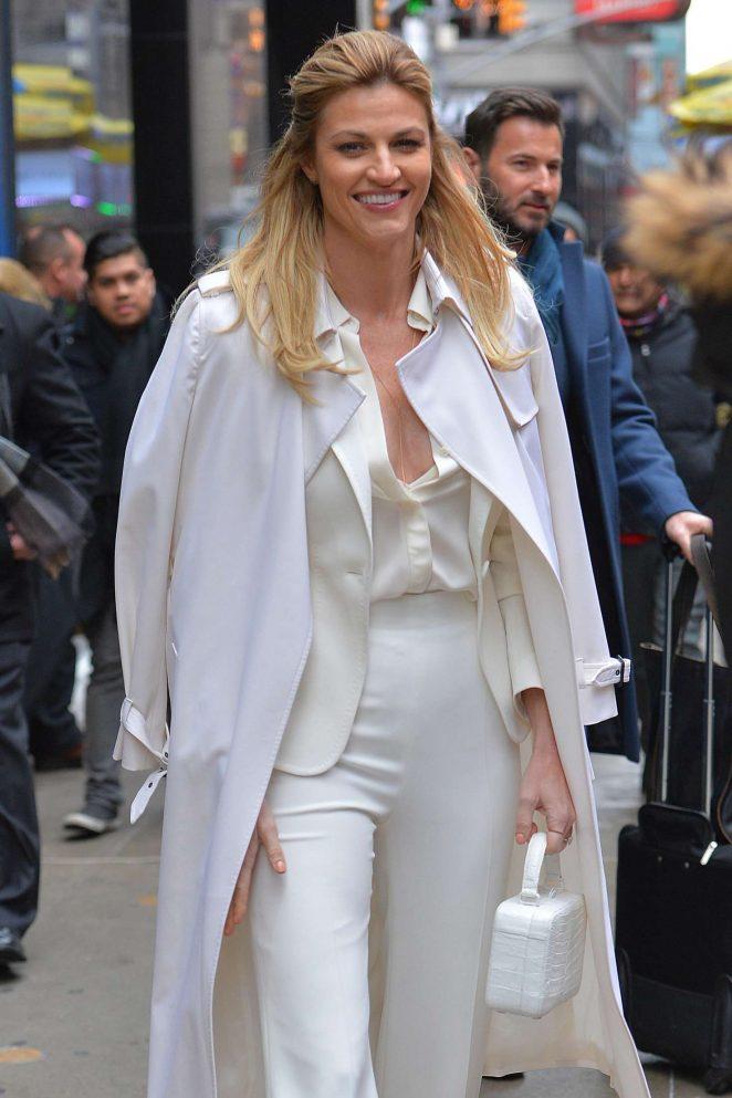 Erin Andrews - Leaving 'Good Morning America' in New York