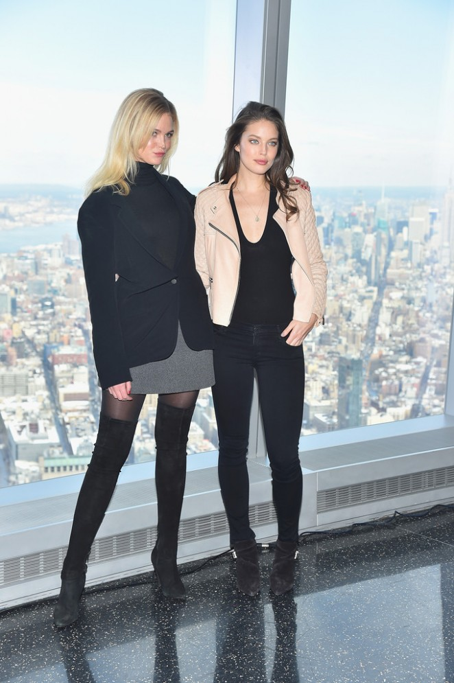 Erin Heatherton and Emily DiDonato - Sports Illustrated Swimsuit 2016 Press Conference in NYC