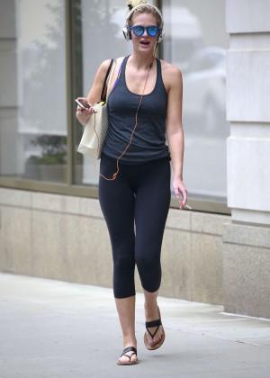 Erin Heatherton in Leggings out in NYC