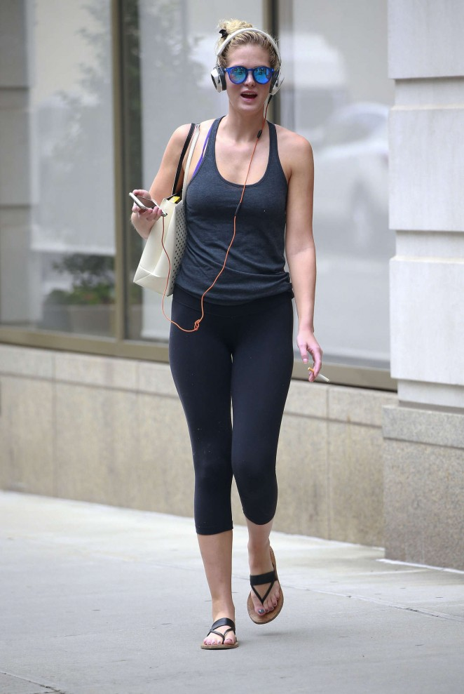Erin Heatherton in Leggings out in NYC