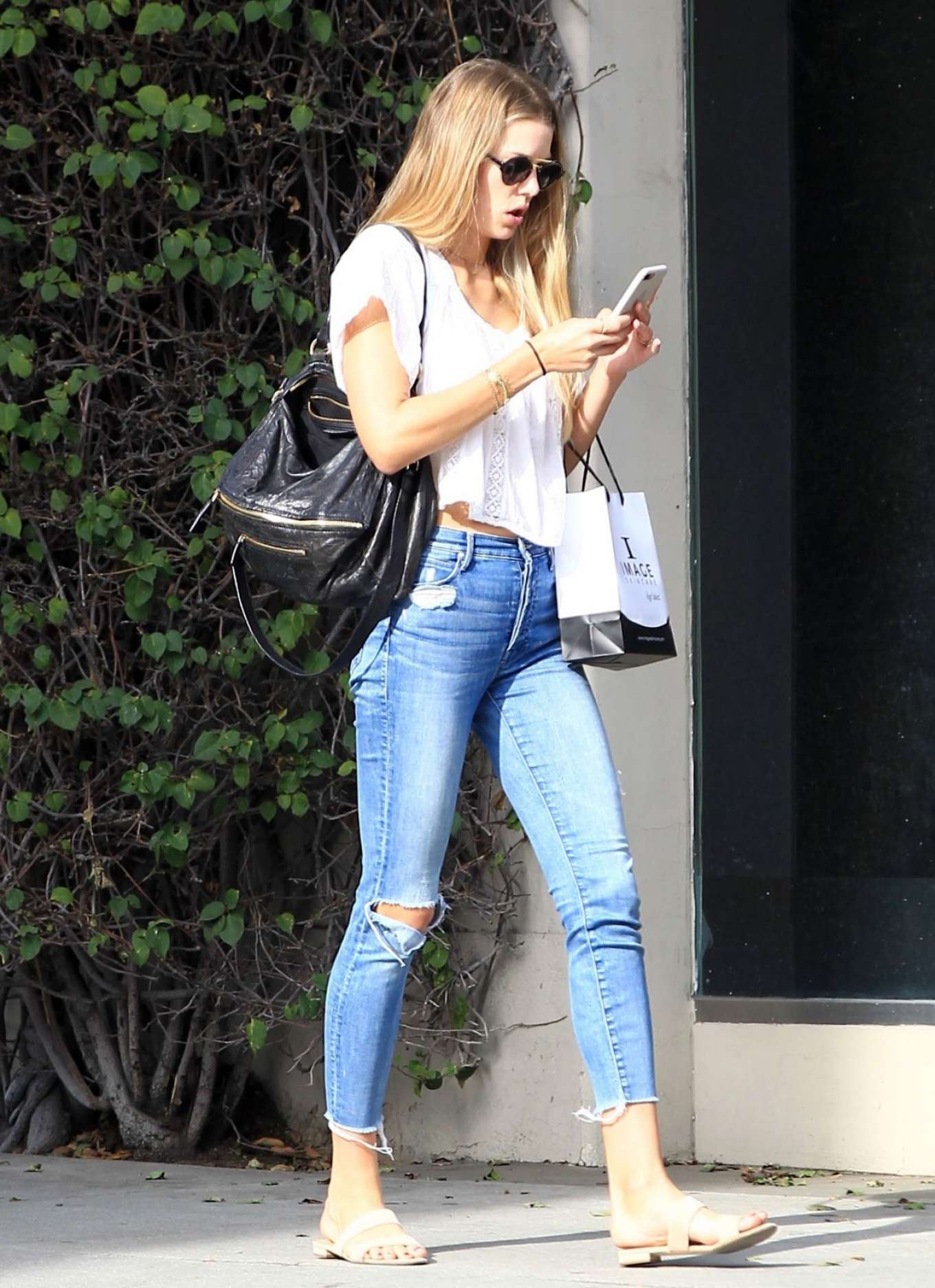 Erin Heatherton in Ripped Jeans Out in Los Angeles