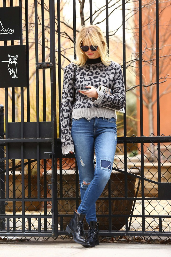 Erin Heatherton in Jeans Out in Soho