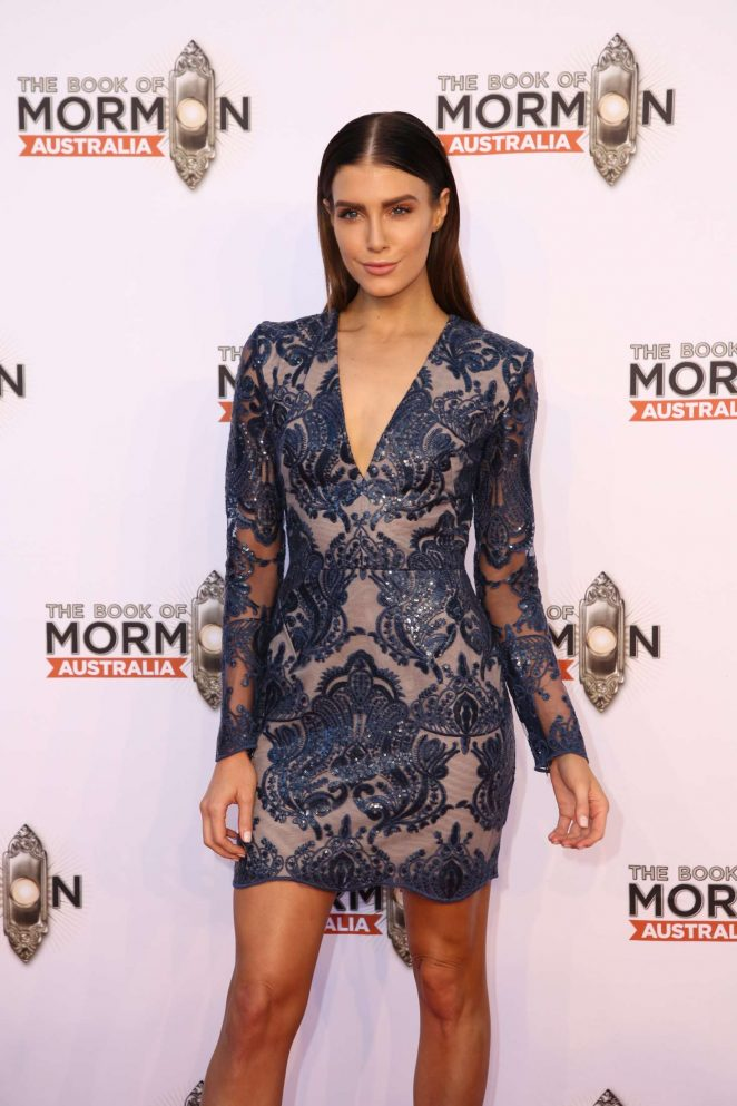 Erin Holland – The Book of Mormon Opening Night in Sydney