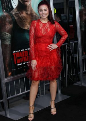 Erin Robinson - 'Tomb Raider' Premiere in Hollywood