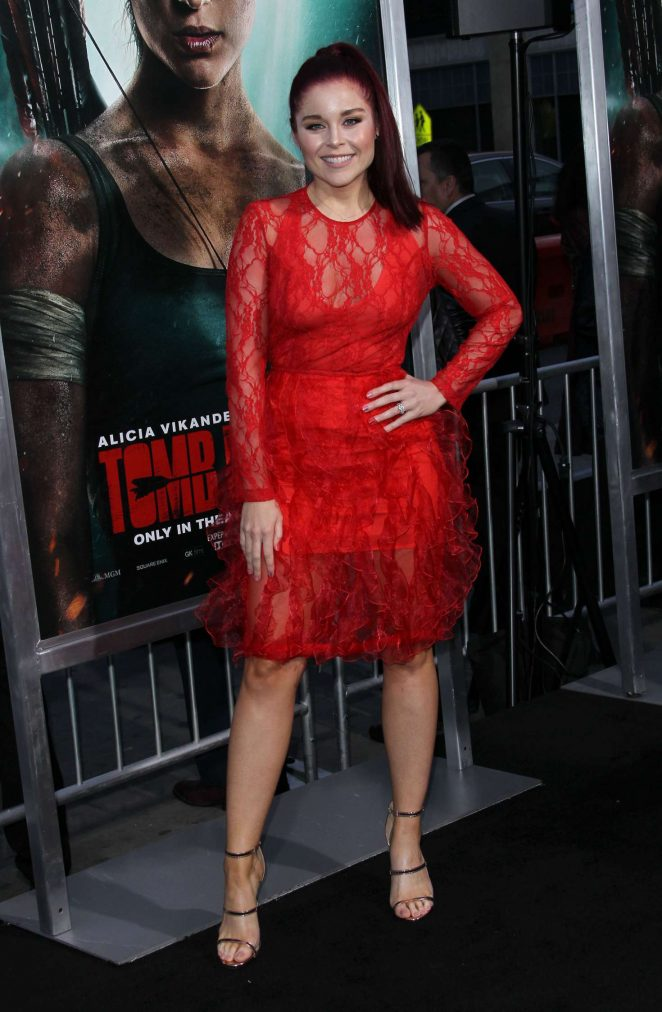 Erin Robinson - 'Tomb Raider' Premiere in Hollywood