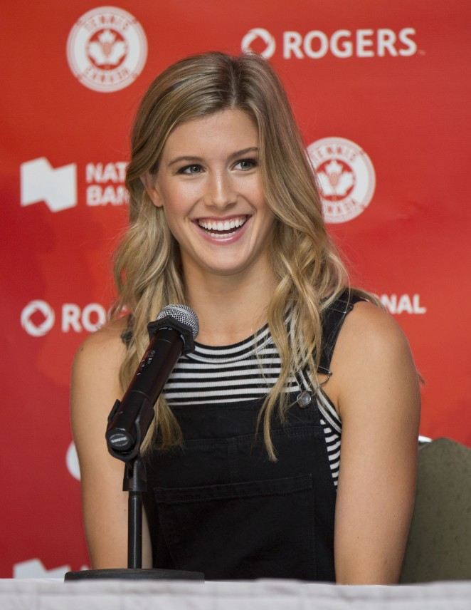 Eugenie Bouchard - 2015 Rogers Cup Draw Ceremony in Toronto