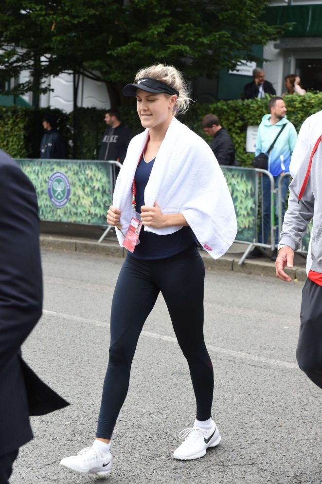 Eugenie Bouchard: Arriving at All England Club -02