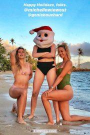 Eugenie Bouchard in Bikini - Instagram