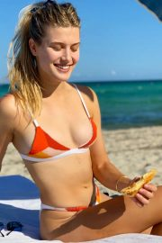 Eugenie Bouchard in Bikini on Miami Beach