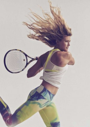 Eugenie Bouchard - Nike Legendary Lava Tight Campaign 2015