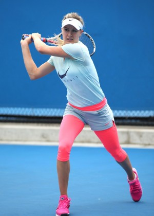 Eugenie Bouchard - Practice Session 2015 in Melbourne
