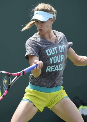 Eugenie Bouchard - Practice Session 2015 in Key Biscayne