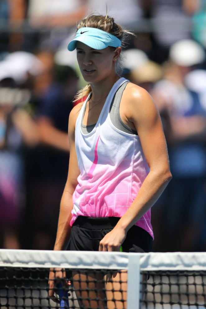 Eugenie Bouchard - Practice Session in Melbourne 2015