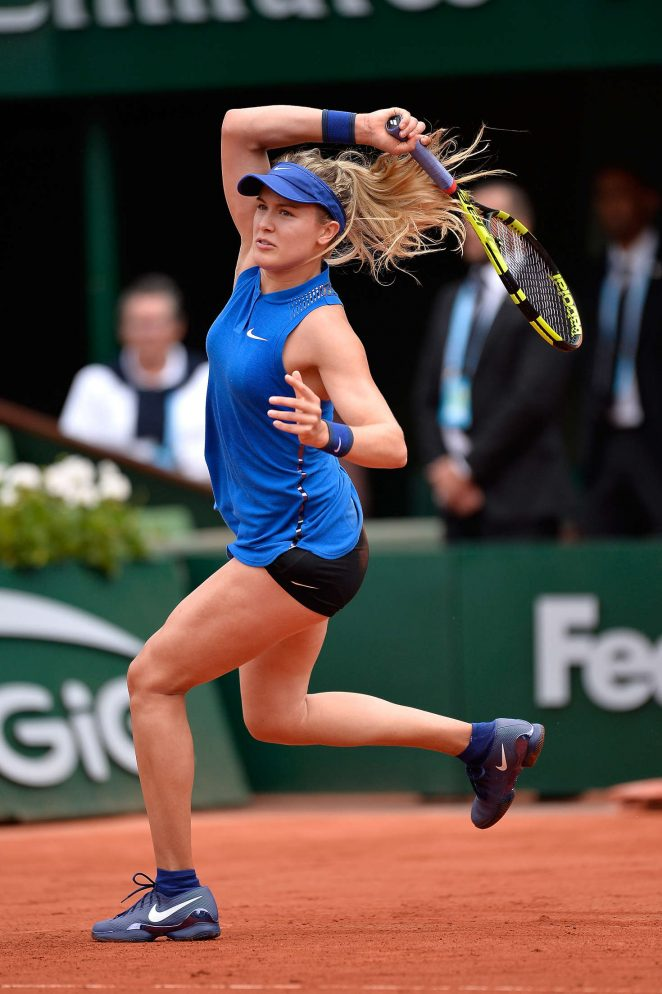 eugenie bouchard roland garros 2016 10 gotceleb. Black Bedroom Furniture Sets. Home Design Ideas
