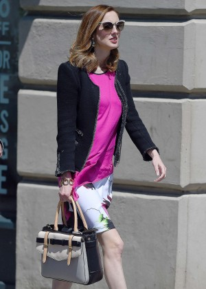 Eva Amurri in Mini Dress out in New York City