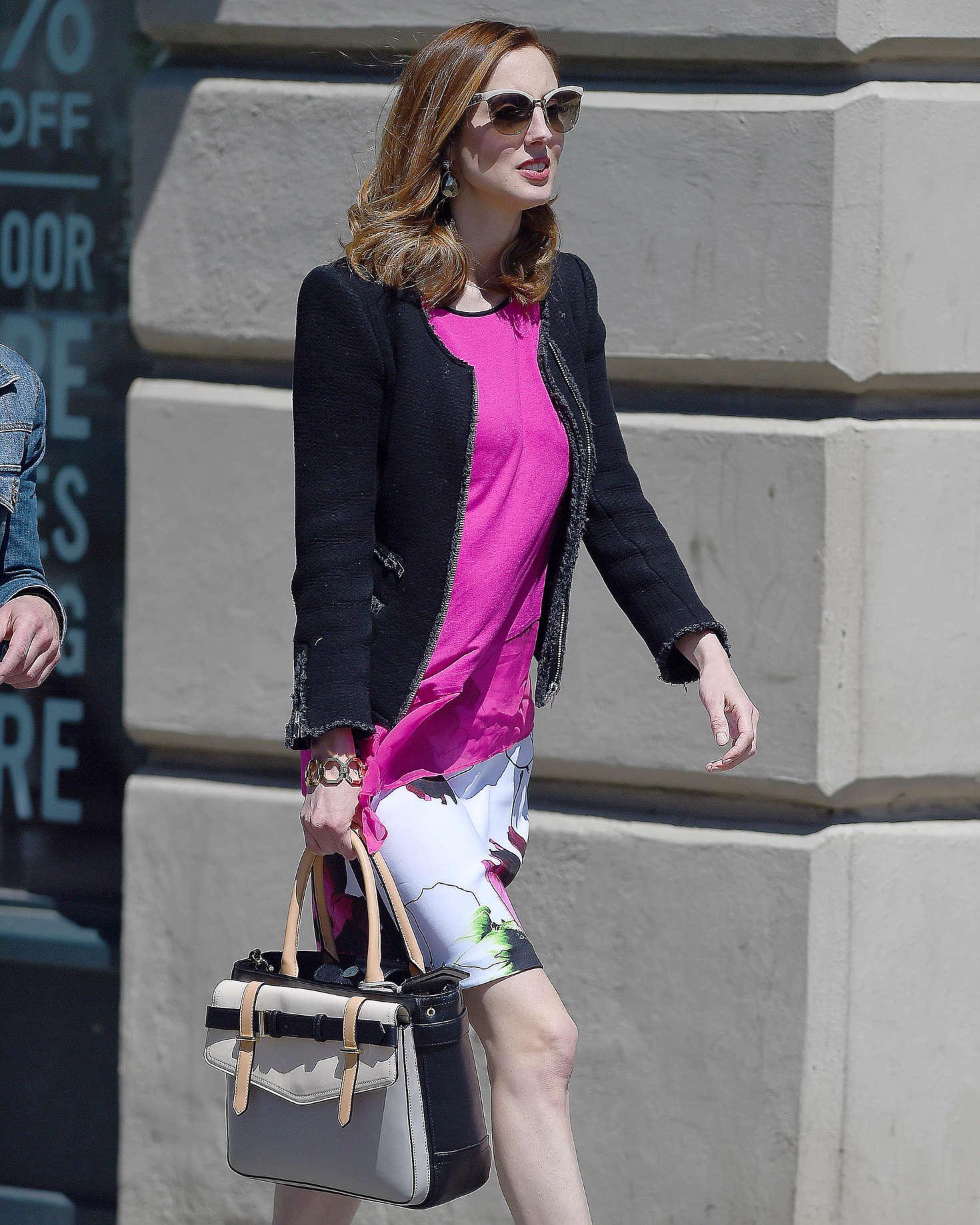 Eva Amurri in Mini Dress out in New York City