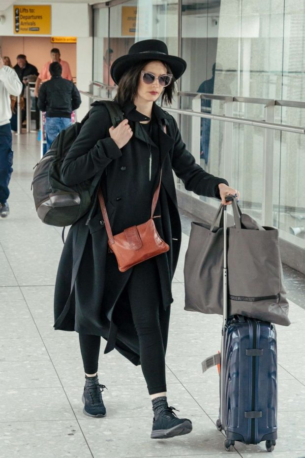 Eva Green - Arriving at Heathrow Airport in London