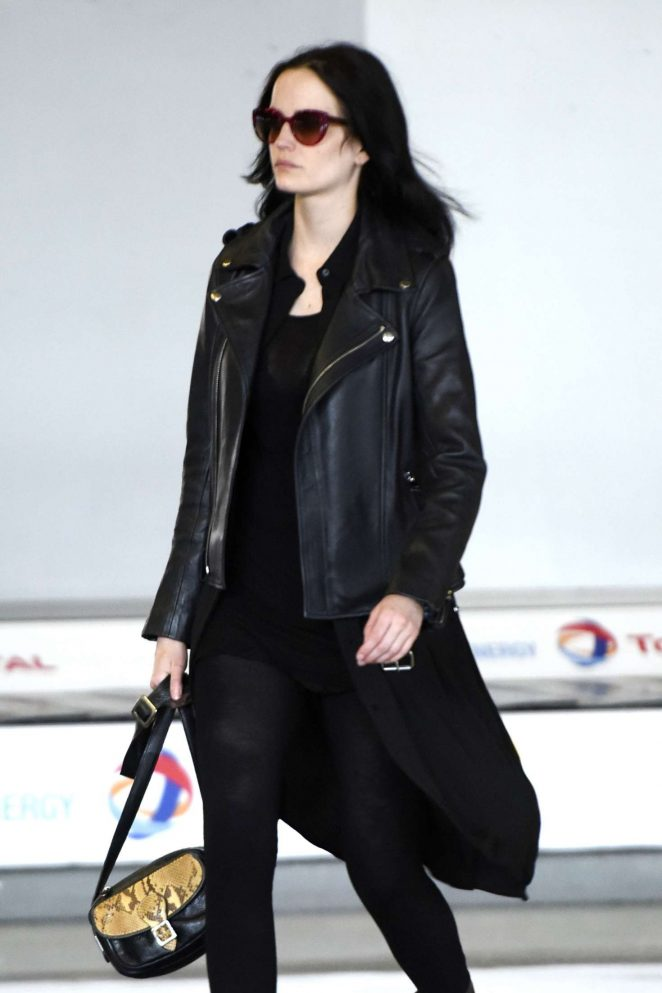 Eva Green at Charles de Gaulles airport in Paris
