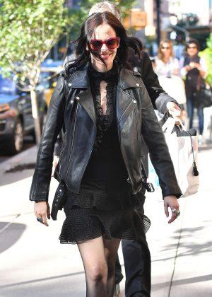 Eva Green in Black out in New York City