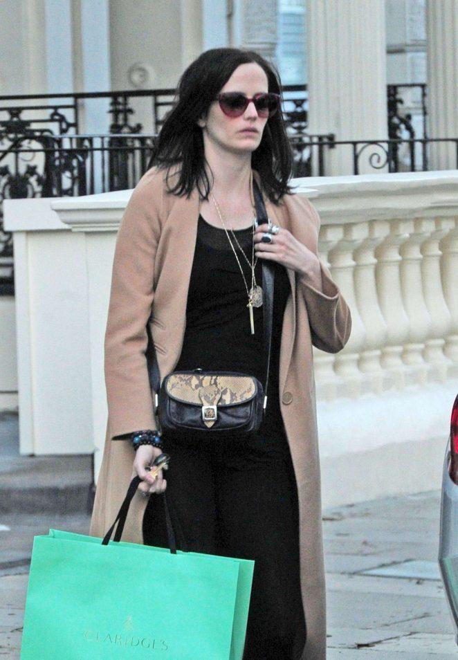 Eva Green in Long Coat out in London
