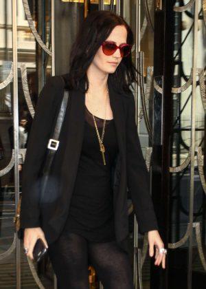 Eva Green Leaves her hotel in London