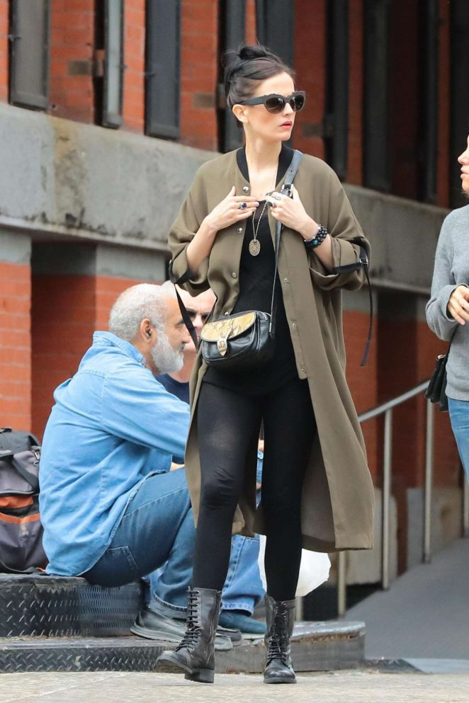 Eva Green out in New York City