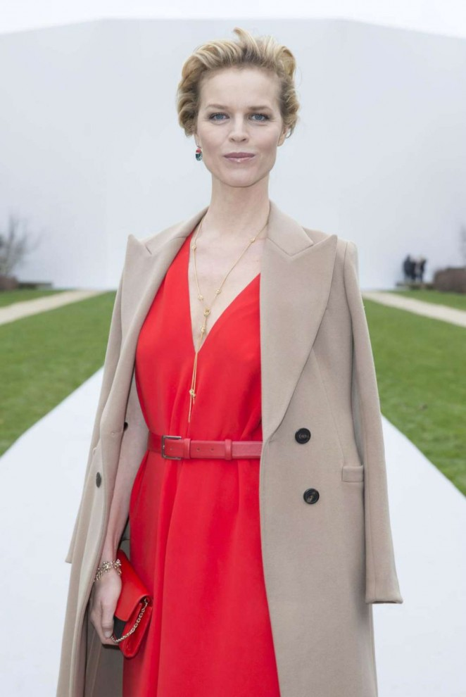 Eva Herzigova at Dior Show 2015 in Paris