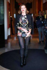 Eva Herzigova - Exits the Majestic Hotel in Cannes