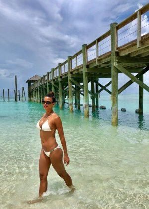 Eva LaRue in White Bikini - Instagram