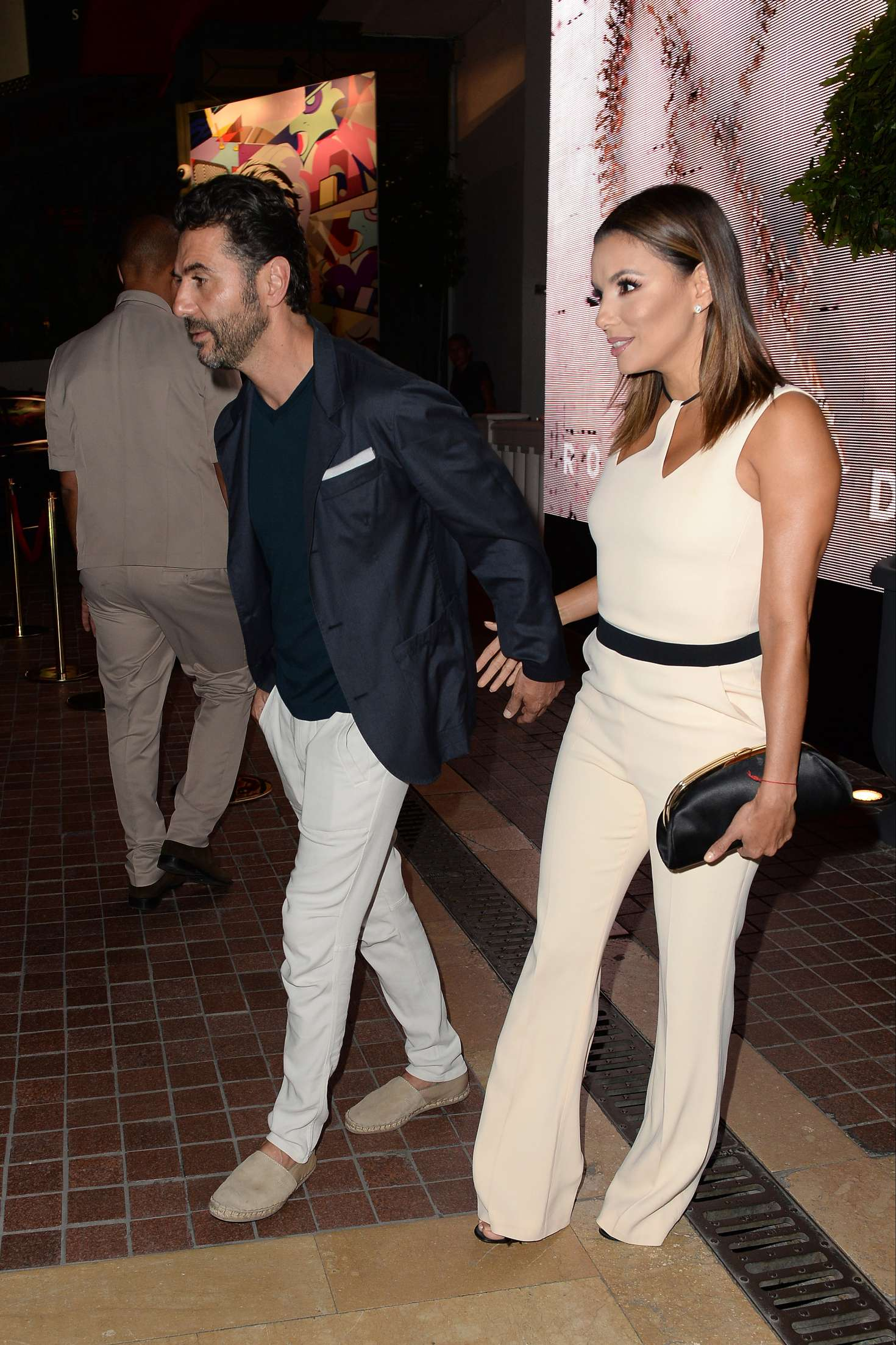 eva longoria and husband jose barton leave the majestic