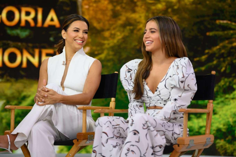 Eva Longoria and Isabela Moner - On NBC's Today Show in NY