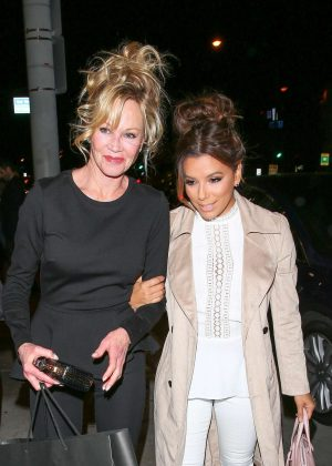 Eva Longoria and Melanie Griffith night out at Catch restaurant in West Hollywood